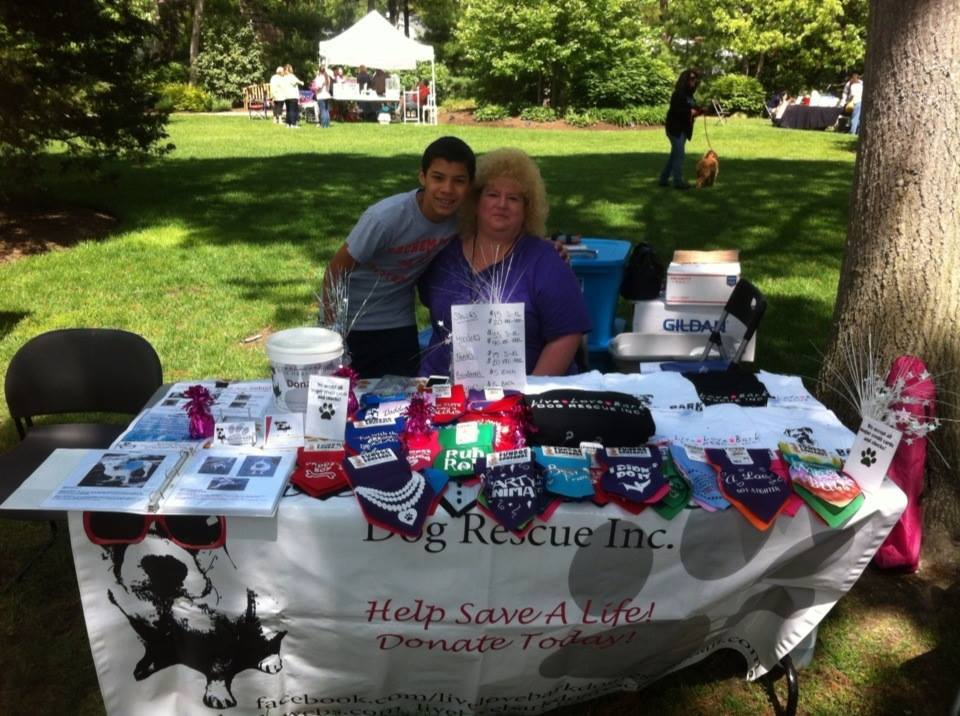 Maureen and Mike at the Sachem Public Library Adoption Fair